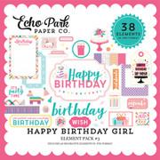 Happy Birthday Girl Element Pack #3