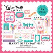 Happy Birthday Girl Element Pack #4
