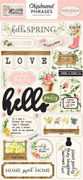 Spring Market Chipboard Phrases