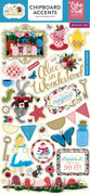 Alice In Wonderland Chipboard Accents