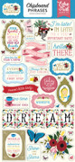 Alice In Wonderland Chipboard Phrases