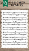 Sheet Music Background Stamp