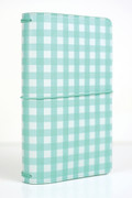 Teal Gingham Travelers Notebook