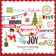 Seasons Greetings Element Pack #1