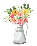 Flowers In Can SVG Cut File
