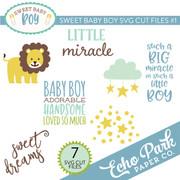 Sweet Baby Boy SVG Cut Files #1