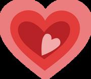 Nesting Hearts SVG Cut File