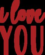 I Love You #3 SVG Cut File