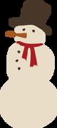 Snowman #2 SVG Cut File