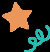 Confetti and Star SVG Cut File
