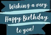 Wishing A Very Happy Birthday SVG Cut File