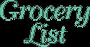 Grocery List SVG Cut File