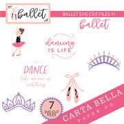 Ballet SVG Cut Files #1