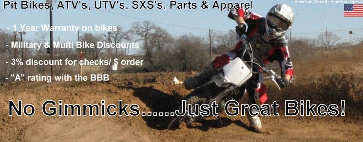 pit bikes, pit bike parts