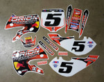 Orion Powersports Red Bull KLX110-DRZ110 Style Graphics