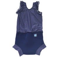 Splash About Happy Nappy Costume Navy White Dot