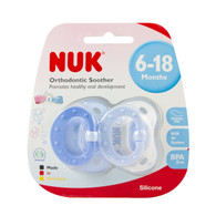 NUK Silicone Soother Baby Blue