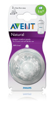 Avent Natural Slow Flow Silicone Teat 1m+