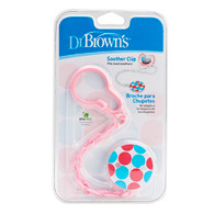 Dr Brown's Soother Clip Pink