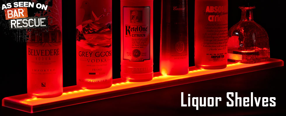 LED Liquor Shelves