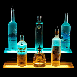 2 Tiered LED Liquor Shelf Display