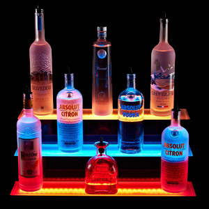 3 Tiered LED Liquor Shelf Display