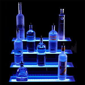 4 Tiered LED Liquor Shelf Display