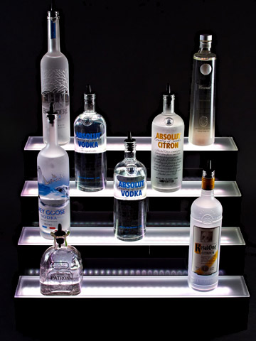update your old bar with tiered led lighting displays back bar lighting