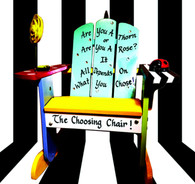 """There is only one """"Choosing Chair"""" and it is up to you as to when you get a """"time-out"""". It's all about what you choose...Forgot to listen? Misbehaved? Didn't obey the rules? Well, if that is what you chose, then this chair is for you. Equipped with an adorable ladybug timer and a rose mirror, the Sporteeenie Choosing Chair is a one of a kind place where kids can sit and reflect on who they are and what they chose. Hand-painted in bright, happy colors, this wooden Adirondack chair provides the perfect place for a """"time-out""""."""