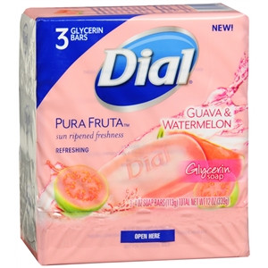 Dial Guava & Watermelon Bar Soap (Pack of 3)