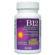 Natural Factors B 12 Sublingual 1000 MCG