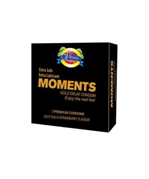 The Vitamin Company Moments Gold Delay Condom 3 Pack