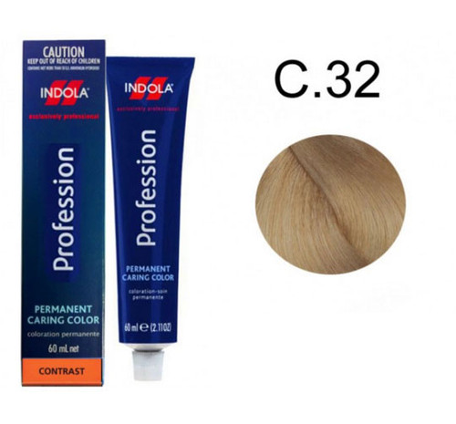 Indola Permanent Caring Hair Colour Contrast Very Light Blonde C.32