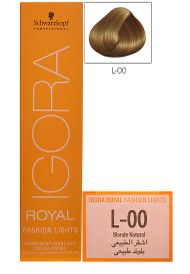 Schwarzkopf Igora Royal Fashion Light Hair Colour Blonde Natural L-00