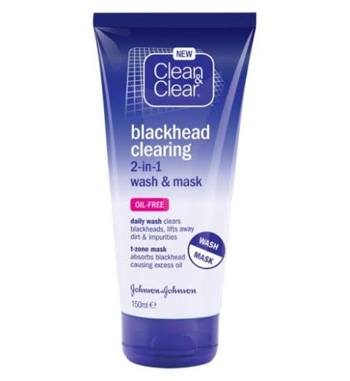 Clean & Clear Blackhead Clearing 2 In 1 Wash & Mask