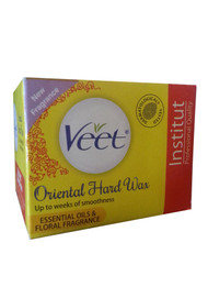 Veet Oriental Hard Wax Essential Oils & Floral Fragrance (Colour Yellow)