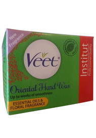 Veet Oriental Hard Wax Essential Oils & Floral Fragrance (Colour Green)