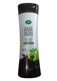 Joy Hair Fruits Shining Black Revitalizing Shampoo Amla & Black Grapes (Front)