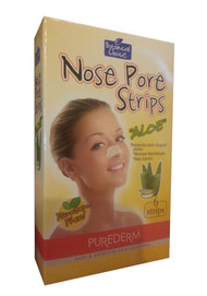Purederm Boanical Nose Pore Strips Aloe (6 strips) (Front)