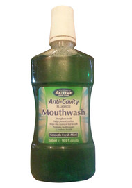 Active Oral Care Anti-Cavity Smooth Fresh Mint Mouthwash Front