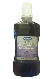 Active Oral Care 6 In 1 Multi-Action Mouthwash Front