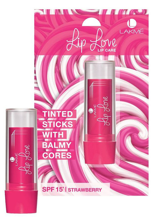Lakme Lip Love Lip Care SPF 15 Strawberry