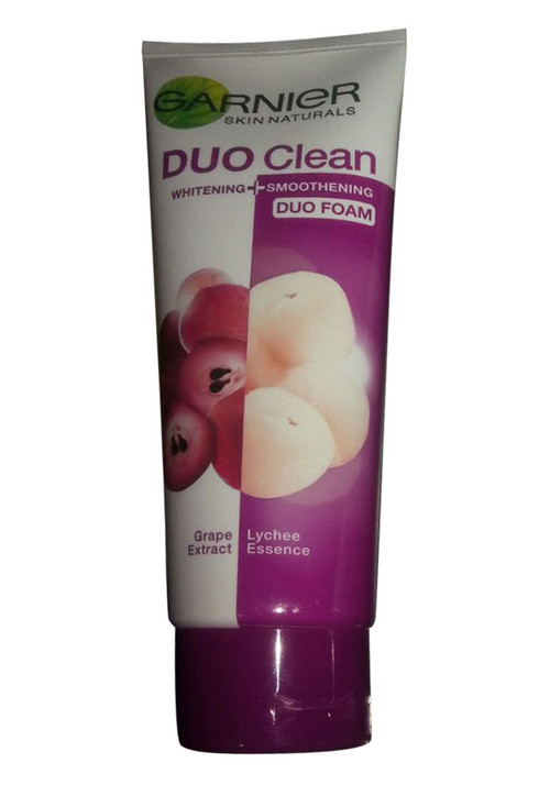 Garnier Duo Clean Grape and Lychee Extract Whitening + Smoothening Duo Foam