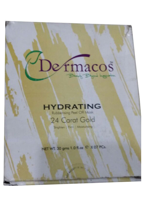 Dermacos Hydrating Rubbing Peel Off Mask 24K Gold