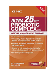 GNC Ultra 25 Billion Cfus Probiotic Complex Weight Management Support