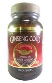 GNC Ginseng Gold Standardized American White Ginseng