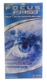 GNC Focus Fast Neuro Focusing Agent (40 Tablets) (Front)