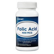 GNC Folic Acid 400 mcg (100 Vegicaps)