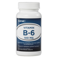 GNC Vitamin B-6 100mg (100 Vegicaps)