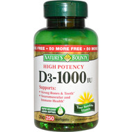 Nature's Bounty Vitamin D3 1,000 IU , 250 Rapid Release Softgels